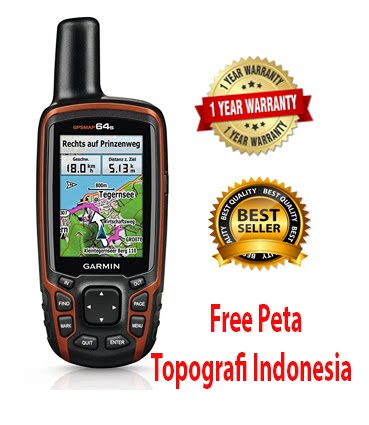Garmin GPS Map 64S Free map Topografi Indonesia