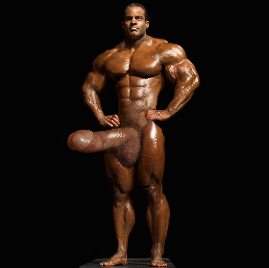 Stunning Naked Bodybuilder Muscle Morph With Gigantic Huge Dick