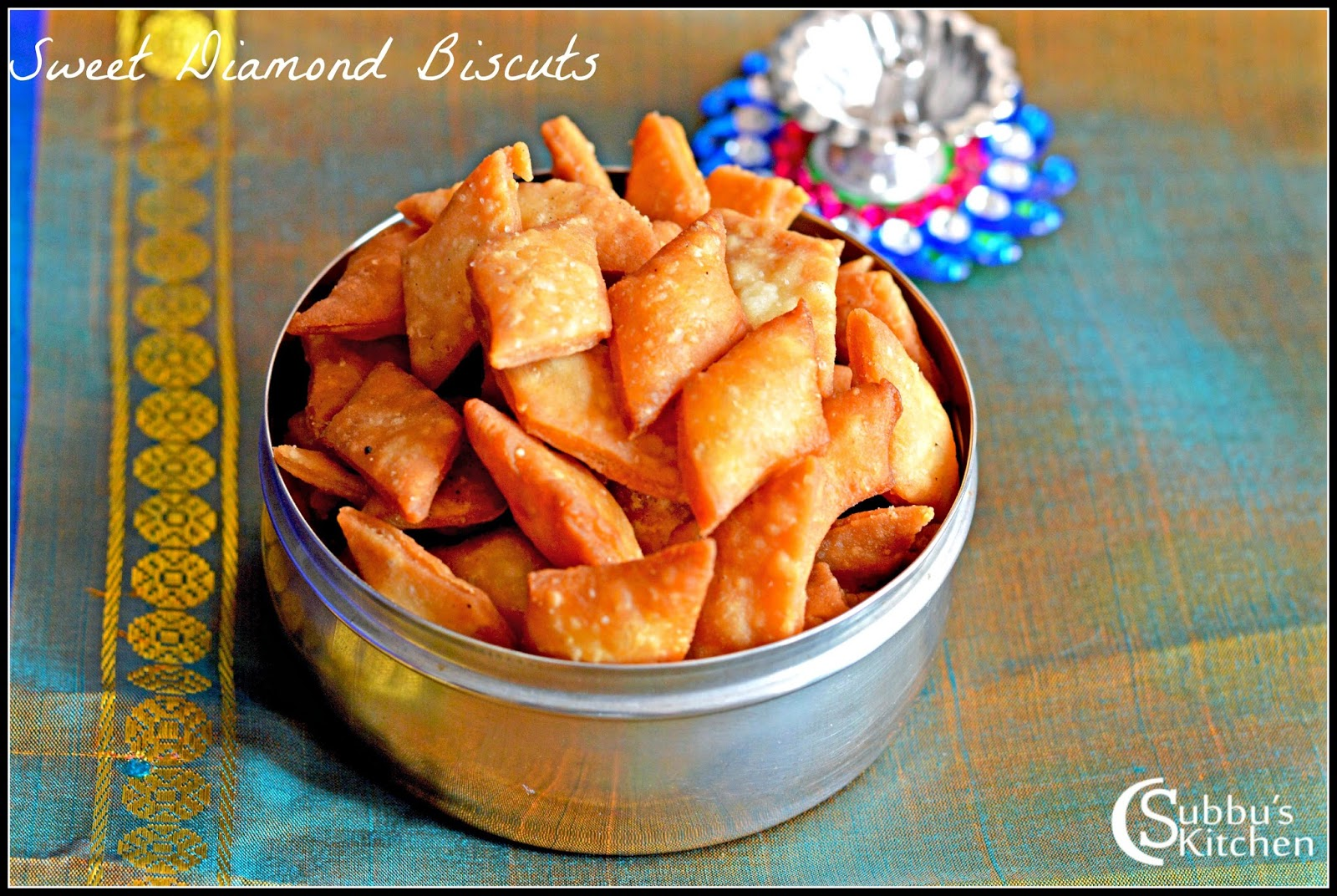 Sweet Thukkada Recipe | Sweet Diamond Cuts Recipe | Sweet Diamond Biscuits Recipe