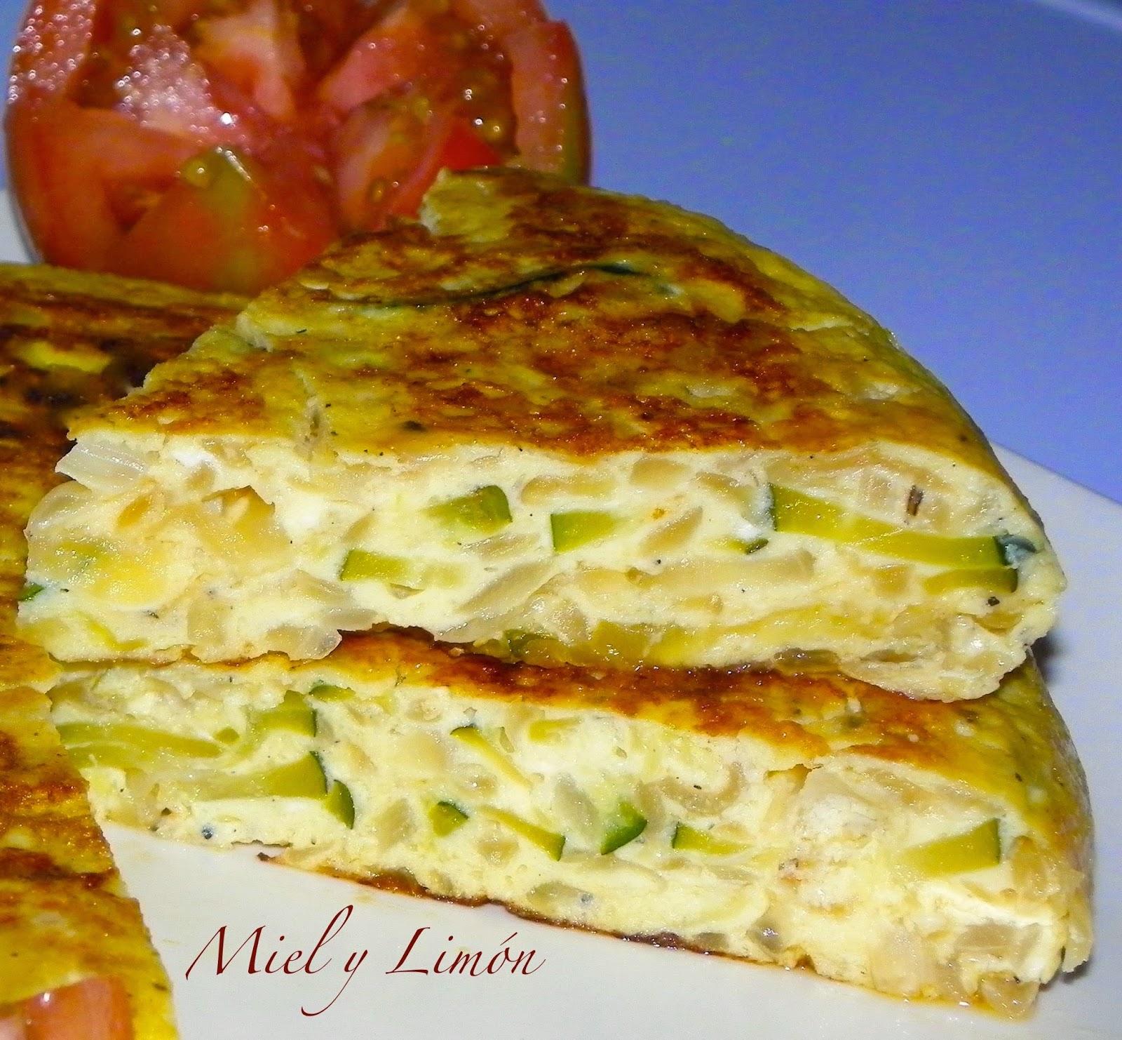 Miel y lim n tortilla de cebolla y calabac n 6 sp raci n - Tortilla de calabacin y cebolla ...