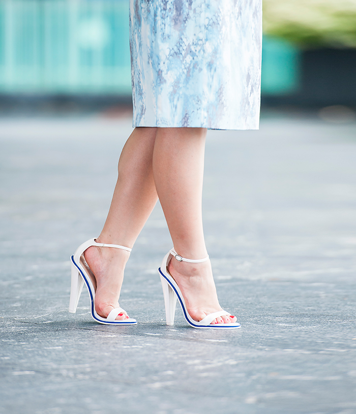 Beautiful Asos white sandals.