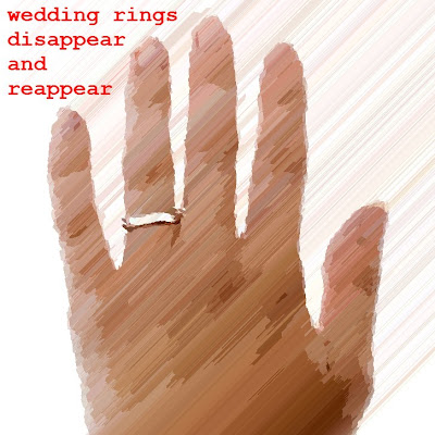 Wedding rings which disappear and reappear
