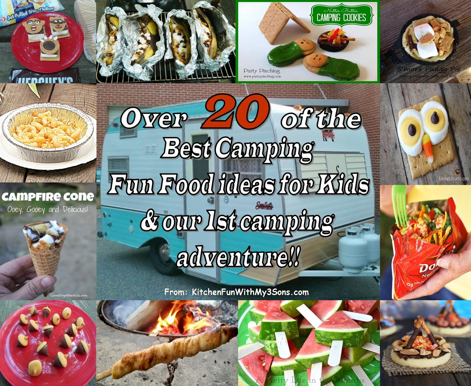 our 1st camping adventure and over 20 of the best camping fun food
