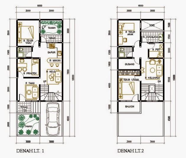 Itulah beberapa contoh desain denah rumah ukuran 7 meteran dan semoga ...