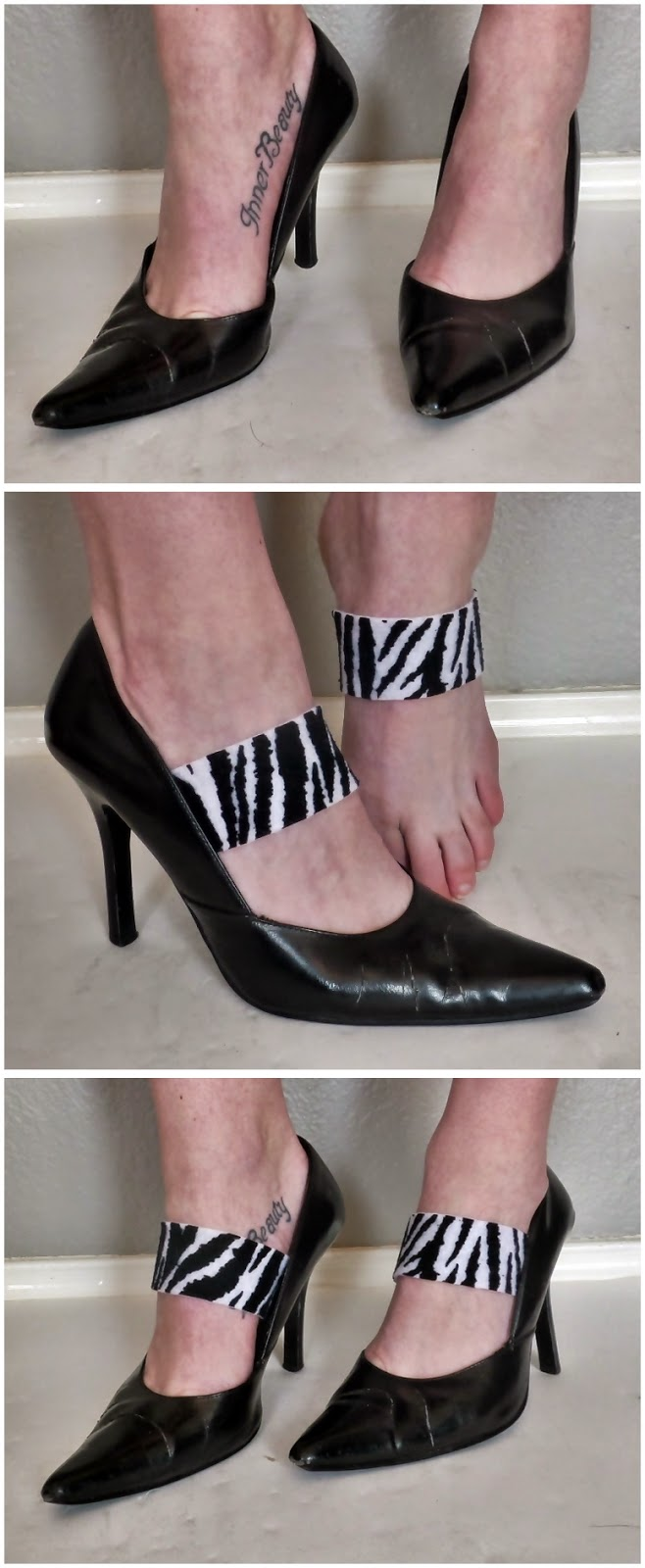 How to make ankle strap for shoe