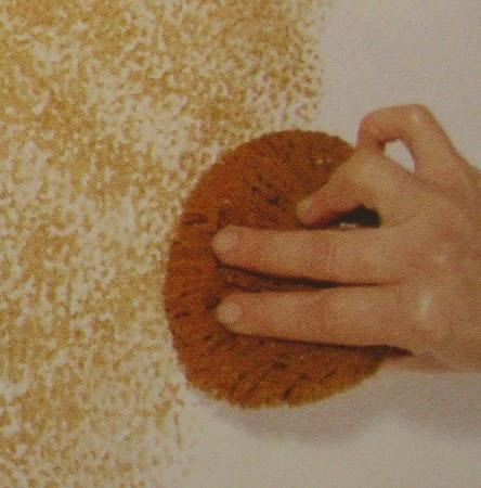 decoracion actual de moda efectos de esponjado de pintura