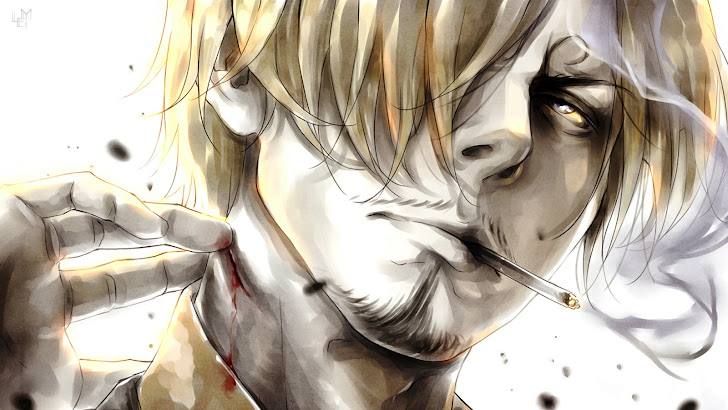 Sanji Smoking Anime