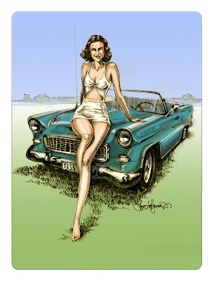 Chevy Bel Air drawing