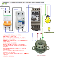 Atenuador dimer regulador de potencia para riel din 1.500W