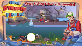 Screenshots of the Super Dynamite Fishing for Android tablet, phone.