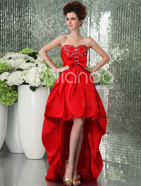 Unique Rouge strass bretelles sweetheart Quadrate fait à la main fleur perlée Super-douce robe du soir en taffetas