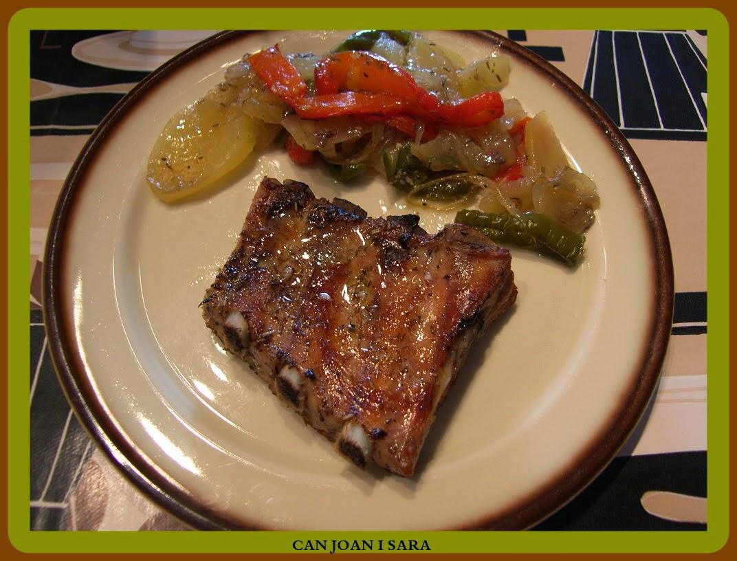 Costilla de cerdo al horno con patatas recetas de cocina - Patatas con costillas de cerdo ...