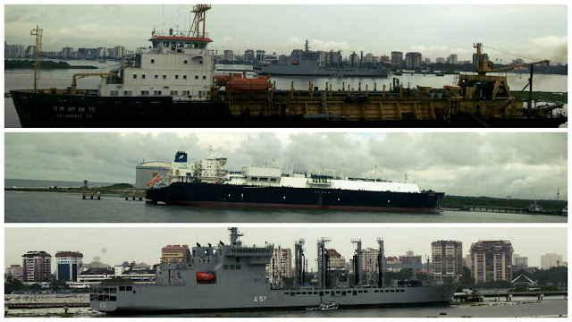 Huge Ships at Kochi Port