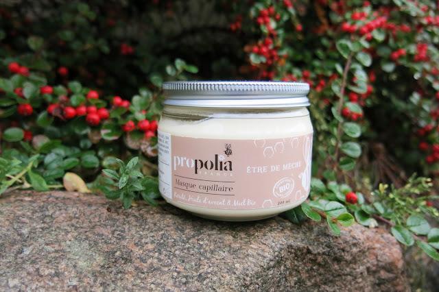 Propolia - Organiczna maska do włosów: masło shea, olej awokado, miód.