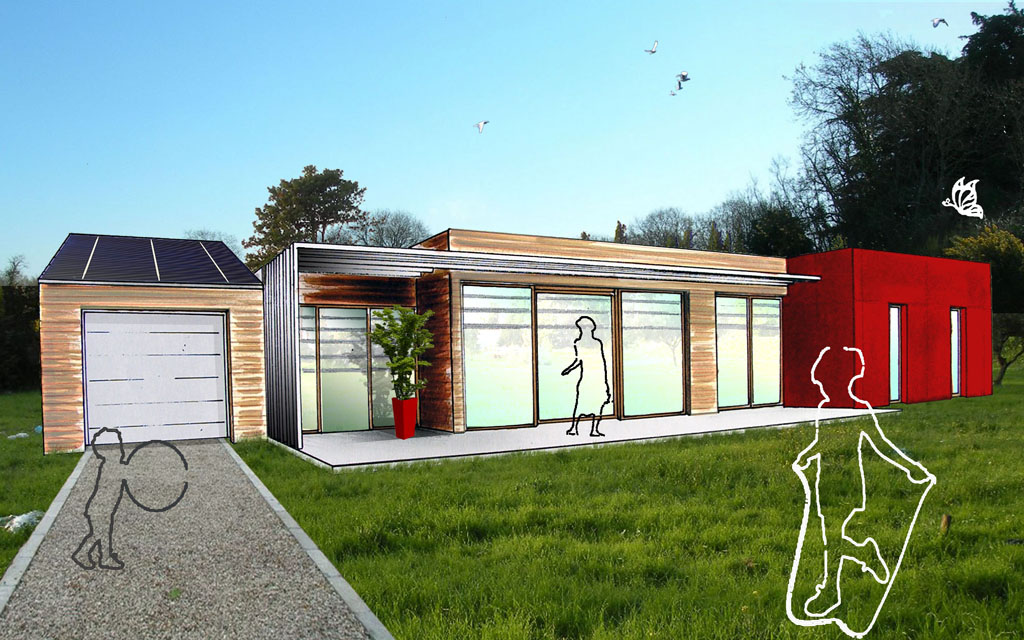 sonnerat architecture maison individuelle. Black Bedroom Furniture Sets. Home Design Ideas