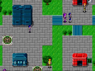 City scene from Phantasy Star