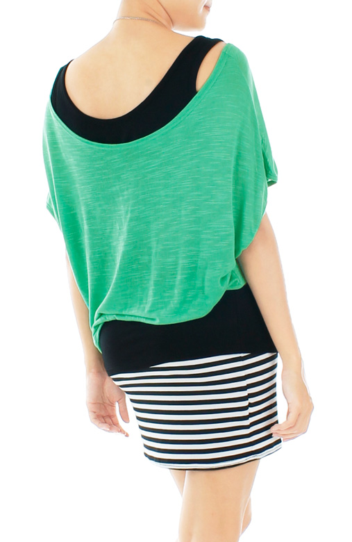 Weekend Chic Stripe Dress – Tosca Green