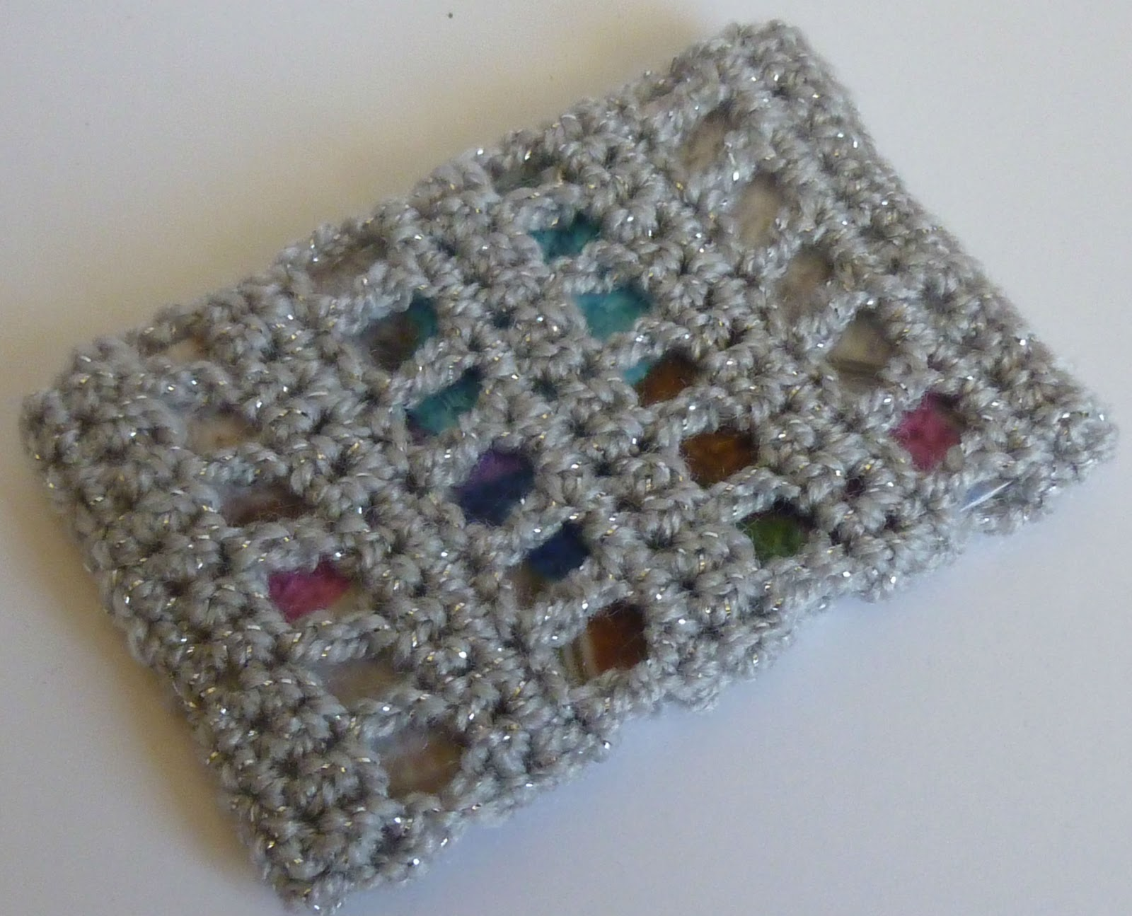 Crochet dynamite shell stitch business card holder reheart Choice Image