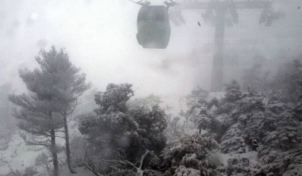 Χιόνια στην Αττική έως και την Τρίτη, με αλυσίδες στην Πάρνηθα (video)