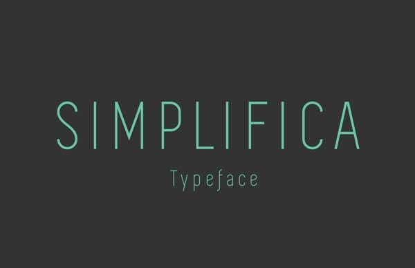 Simplifier Free Font