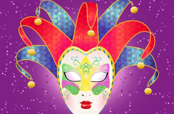 Colorful, Vector Carnival Mask