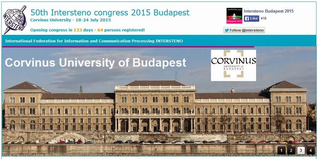 50e Congrès mondial Intersteno
