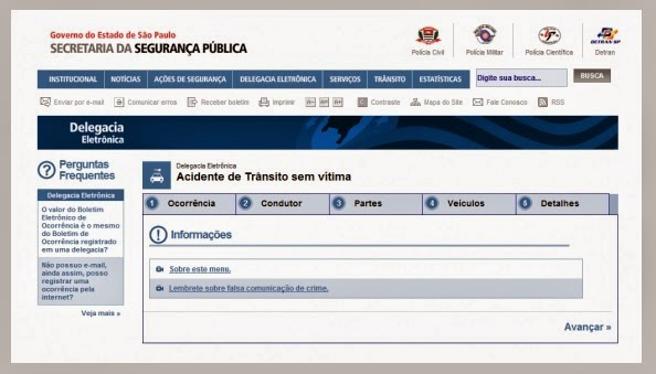 boletim de ocorrencia online - bo online sp rs sc mg ba rj