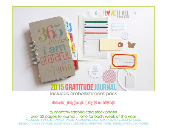 365 Things I Am Grateful For | iloveitall.etsy.com