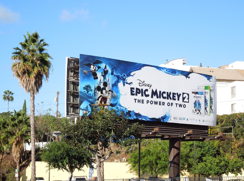 Disney Epic Mickey 2 game billboard