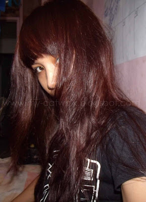 Now, colored it again. This time its a red-brown color or burgundy.