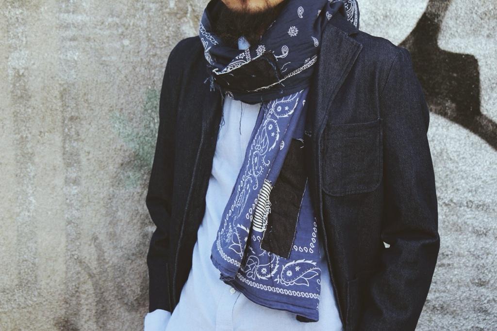 bluecityrugmaker 14fw bandana stole scarf バンダナvintage マフラー BCRM madeinjapan