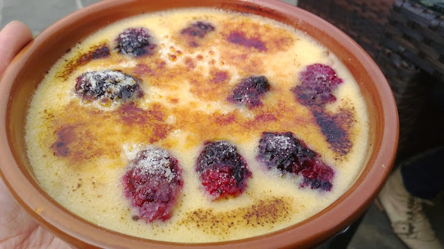 creme Catalan with berries