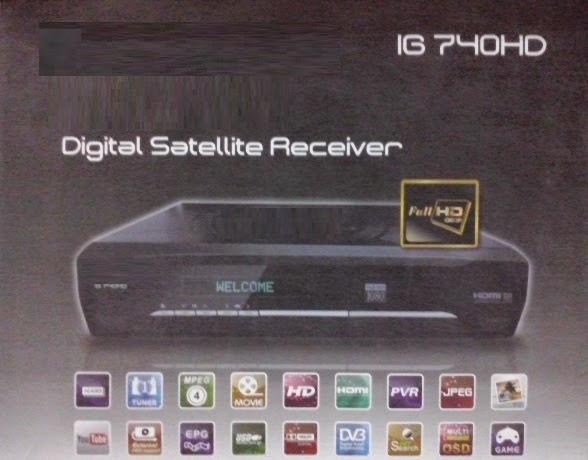 IG 740HD, DVBS2, 1080p, MPEG-4, Youtube, PVR Set-Top Box