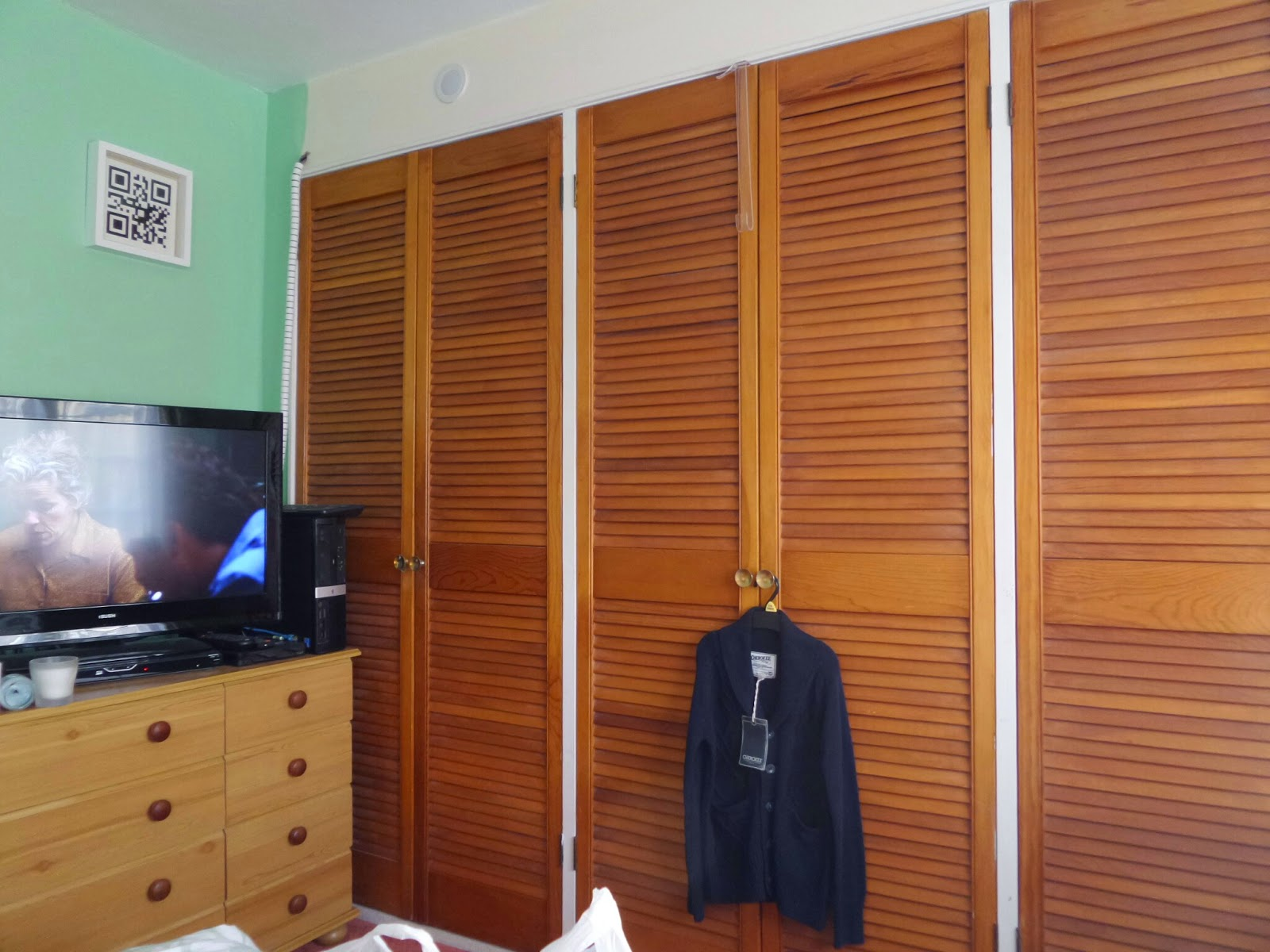 "The wardrobes and ""my"" side of the bedroom"