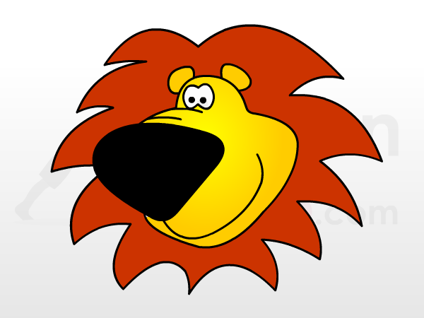 Lion cartoon head - photo#23