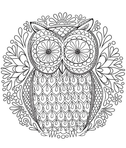 Owl Mandala Coloring Pages Adult