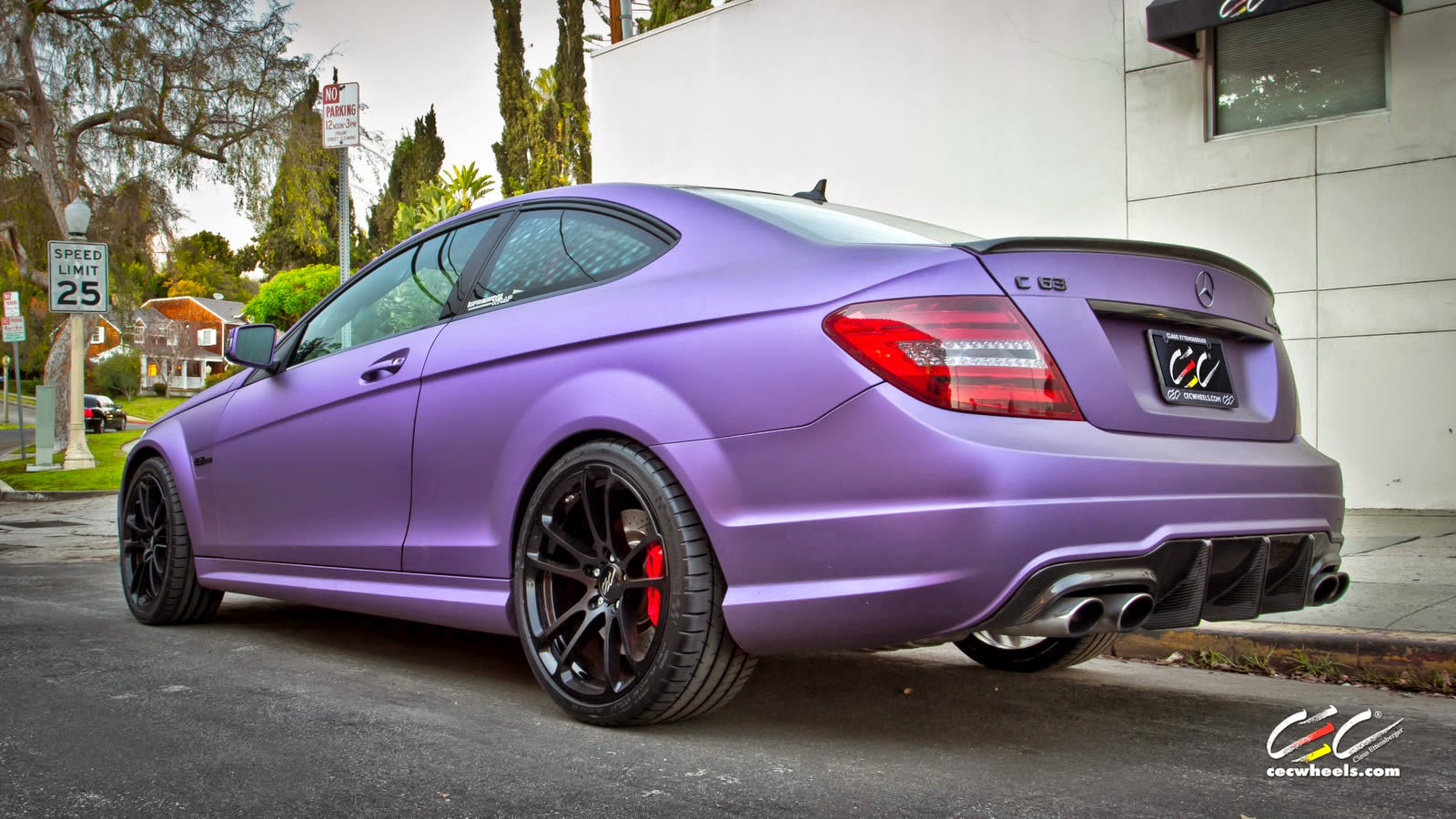 Mercedes benz w204 c63 amg coupe purple matte on cec for Matte mercedes benz