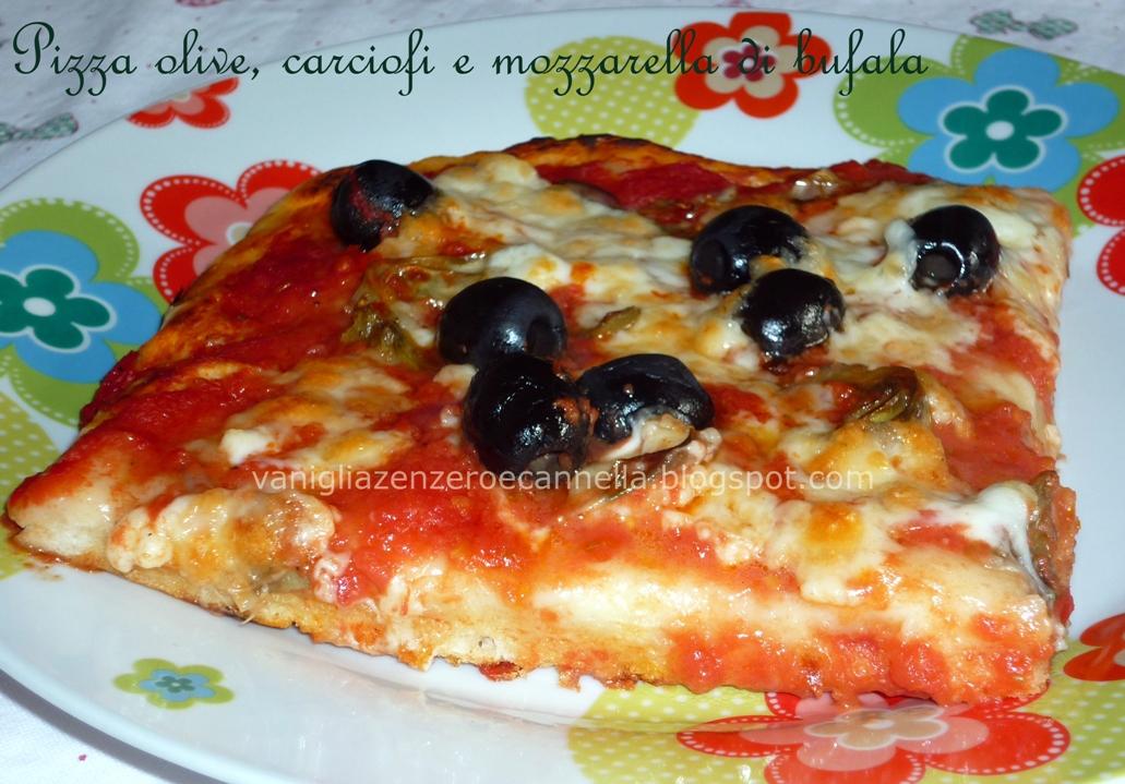 il bistrot di valeria pizza olive carciofi e mozzarella di bufala. Black Bedroom Furniture Sets. Home Design Ideas
