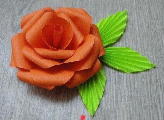 Flores de cartulina en 3D paso a paso Manualidades Fciles