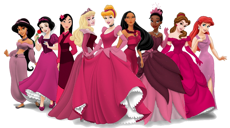 princesas disney en rosa