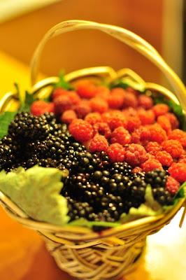 basket of forest fruits