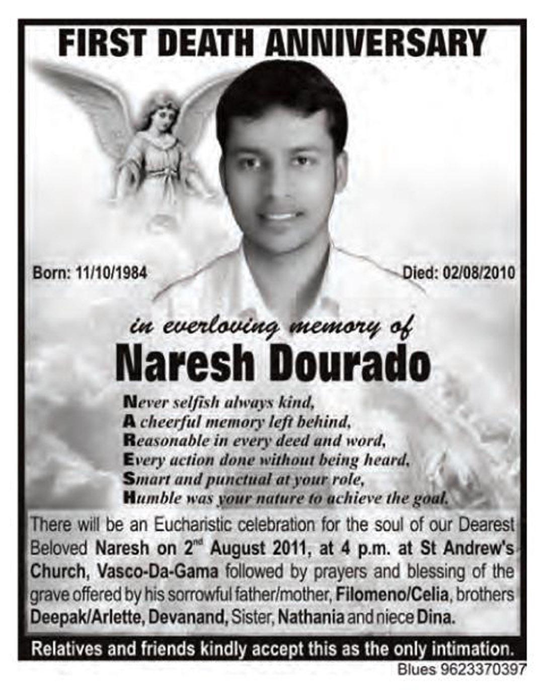 Updating news on the tiatr fraternity of goa naresh dourado 1st naresh dourado 1st death anniversary stopboris Gallery