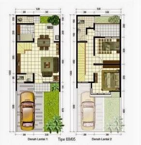 Desain Rumah Minimalis 2 Lantai 6 X 15