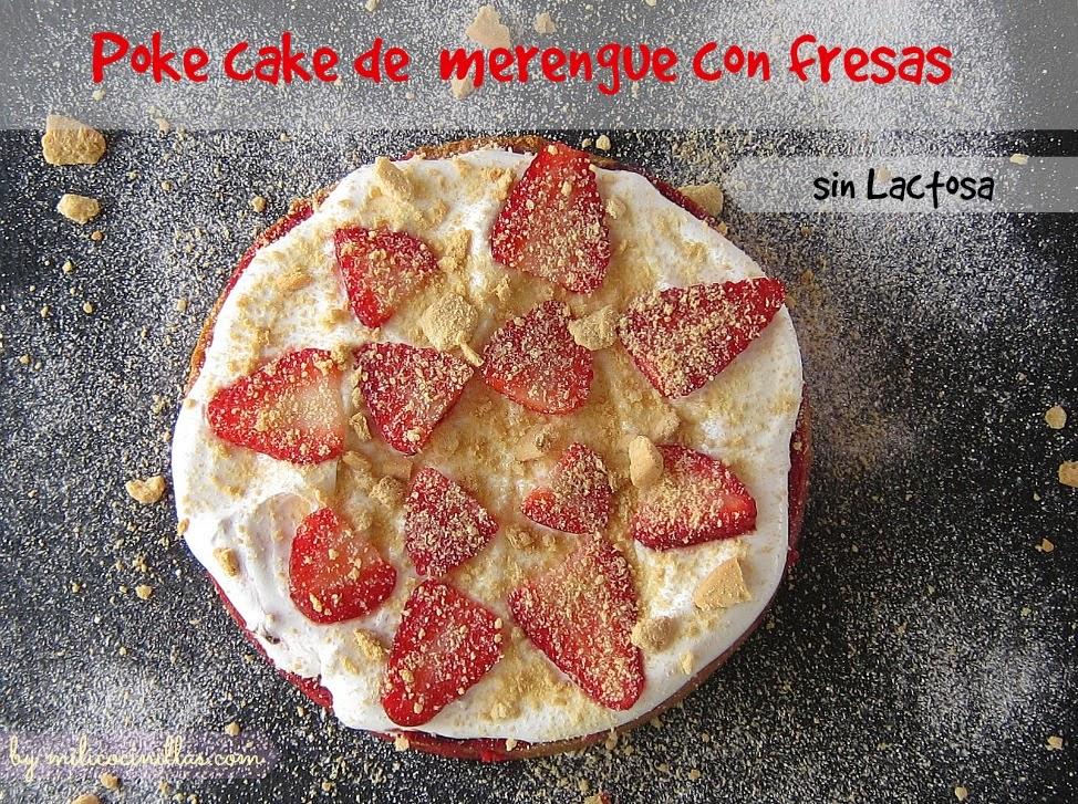 Bizcocho de merengue con fresas
