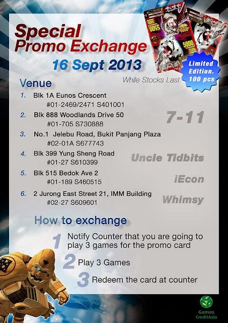 Exclusive Singapore Promo Animal Kaiser Card