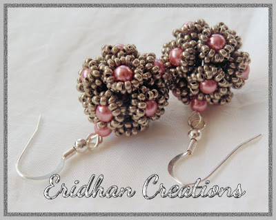beaded balls earrings