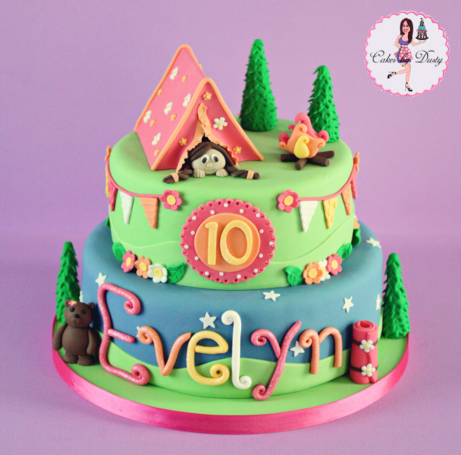 Cakes By Dusty Evelyn S Glamping Cake