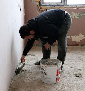 Filling the Sassy-dug holes