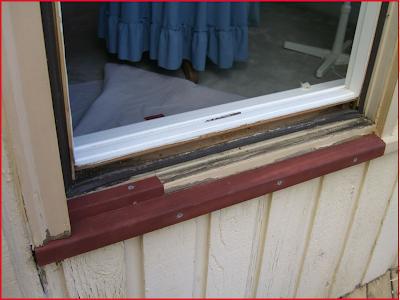 Weathervane window rot repair