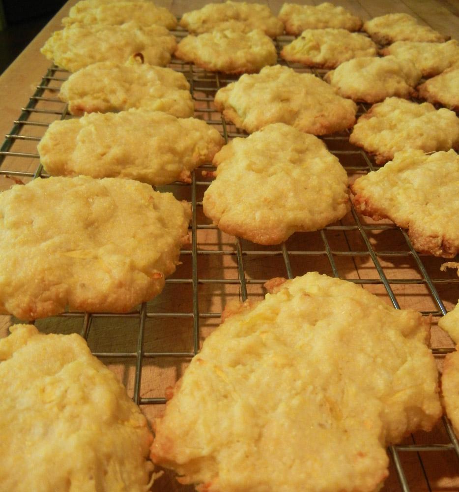 Ronna's Blog: Lemon-Zucchini Cornmeal Cookies
